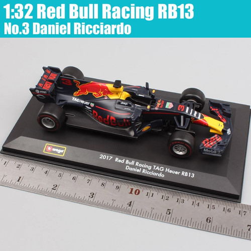 1:32 Scale BBurago formula one F1 Red Bull Racing TAG Heuer RB13 No.3 Daniel No.33 Max Verstappen diecast models cars adult toys