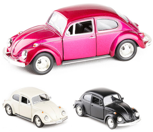 RMZ City 1/32 Beetle 1967 Alloy Diecast Classic Car Model Toy With Pull Back For Kids Christmas Gifts Toy Collection