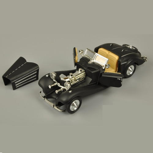 1:28 Bens 500K Alloy Model Car Classic Retro Mini Collective car Model Toy Pull back Acousto-optic