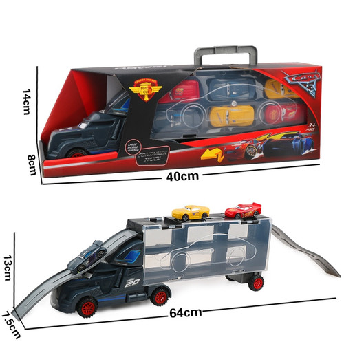 7Pcs Disney Pixar Cars 3 Lightning McQueen Jackson Storm Mack Uncle Truck 1:55 Diecast  Model Birthday Gift Toy For Boy Kid