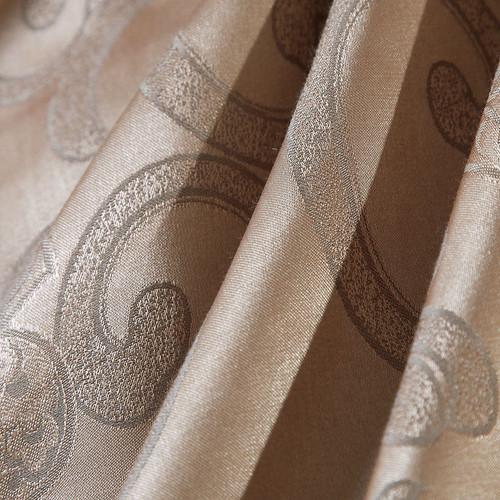 Gray gold Jacquard bedding sets  6pc/4pc  queen king size duvet cover set Silk Cotton blend Fabric luxury bedlinen