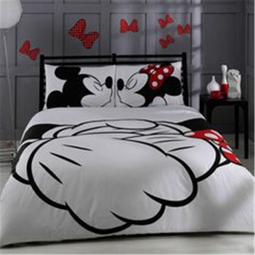 Mickey Minnie Mouse 3D Printed Bedding Duvet Covers Sets Girls Children's Bedroom Decoration Woven 400TC Twin Full Queen King SZ