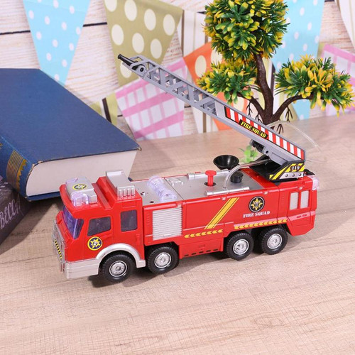 Electric Fire Truck Toy Water Spray Fire Engine Car Toy with Bright Lights Kids Early Educational Vehicle Toy Gift