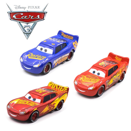 1:55 Disney Pixar Cars Metal Diecast Number 95 Lightning McQueen All Style Golden Silver Champion Collection Version Car Boy Toy