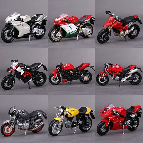 1:18 Maisto Model Motorbike Toy  Alloy  Simulation Motorcycle Collectable Motor Cycle Kids Toys