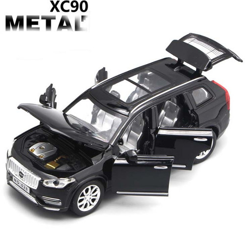 New 1:32 Scale Volvo XC90 Diecast Car Model With Openable Doors Pull Back Function Music Light Kids Toy Gifts Free Shipping