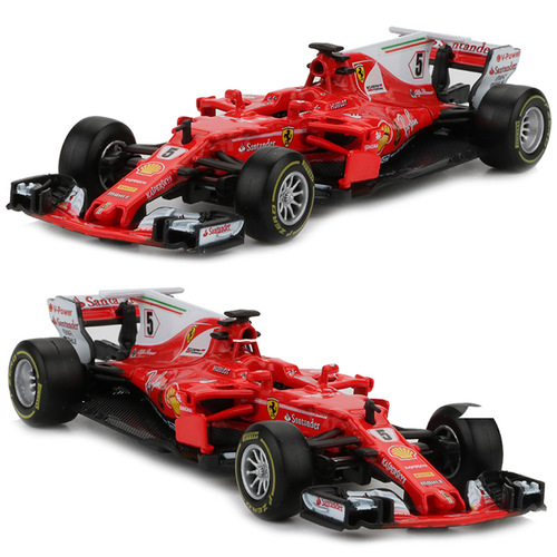 2pcs Bburago 1:43 Formula 1 Racing Car Toy Alloy SF70H No. 5 No. 7 F1 Racing Cars Metal Model Decor Boys Toys