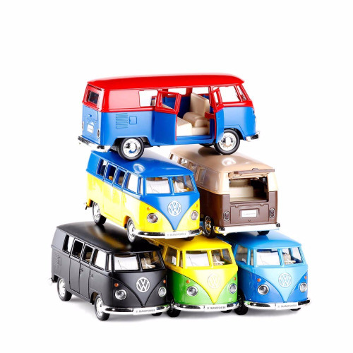 High Simulation  Model Toy Car RMZ City 1:36 Metal Volkswagen Van Retro Print T1 Bus Alloy Bus Model Excellent Kids Gifts PUBG