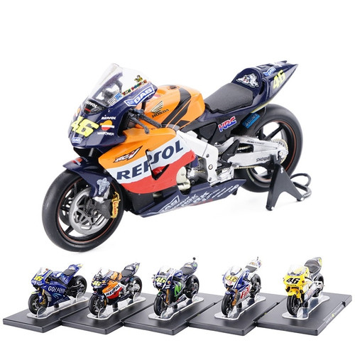 1/18 Scale Yamaha Honda Aprilia #46 Valentino Rossi MotoGP Diecast Motorcycle Toy Collecion Racing Bike Models for Kids Gift