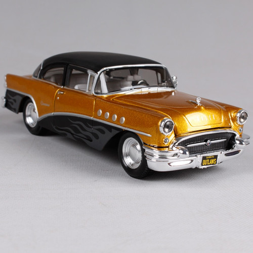 Maisto 1:24 1955 Buick Century Outlaws Police car Old Car Diecast Model Car Toy New In Box Free Shipping 32507