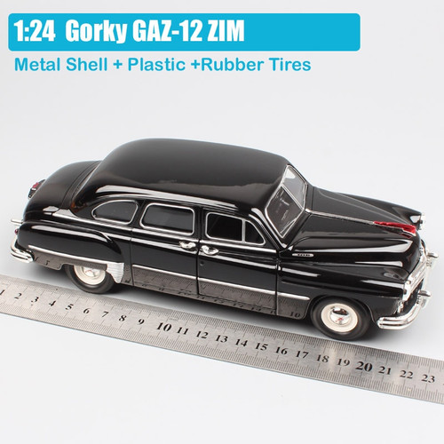 1:24 Scale Road Signature Russia USSR classic Gorkovsky Gorky GAZ-12 ZIM Sedan Volga diecast model cars toy for collection gifts