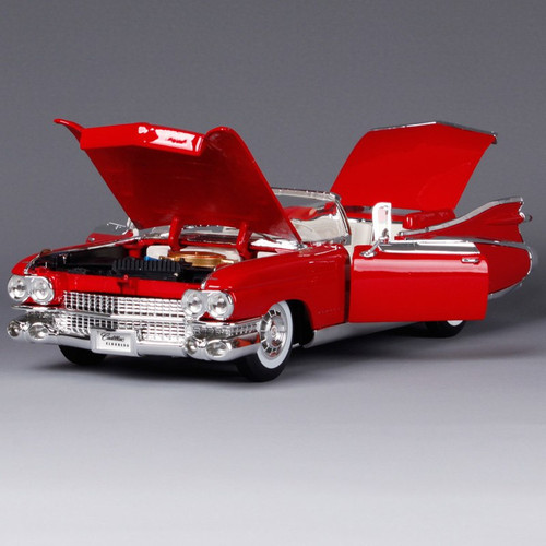 Maisto 1:18 1959 cadillac eldorado biarritz pink car diecast convertible limo automobile diecast car models gift for men 36813
