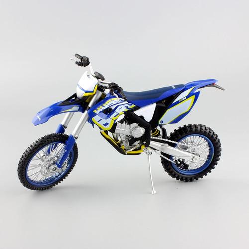 1 12 scale Children's KTM HUSABERG FE390 Motorcycle Motocross Dirt Bike superbike enduro Diecast metal model race Cars for boys