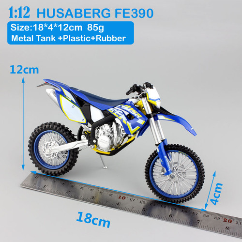 1 12 scale Children's KTM HUSABERG FE390 Motorcycle Motocross Dirt Bike superbike enduro Diecast metal model race Cars for boys