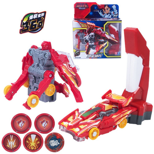Kids Cars Toys Me Game Burst Speed Deformation Car Action Figures Card Capture Wafer 360 Degree Burst Transformation Car Toys