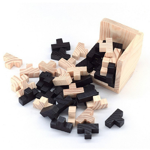 Creative 3D Puzzle Luban Interlocking Wooden Toys Early Educational Toys Wood Puzzles For Adults Kids Brain Teaser IQ Puzzles