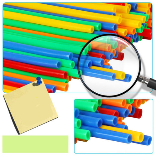 QWZ Baby Puzzle Prajita 100pcs/200pcs Children's Puzzle Straw Blockds Pipette Stitching Assembly Straw Build Blockd Creative Toy