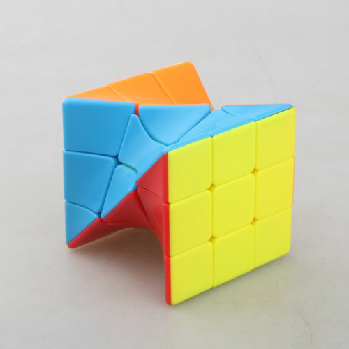 Fangge 3x3 Torsion Magic Cube Coloful Twisted Cube Puzzle Toy For Challange