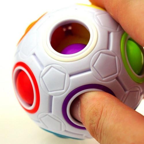 Rainbow Football Magic Cube Toy Creative Rainbow Football Magic Cube Toy Plastic Creative Rainbow Balls Educational Toys