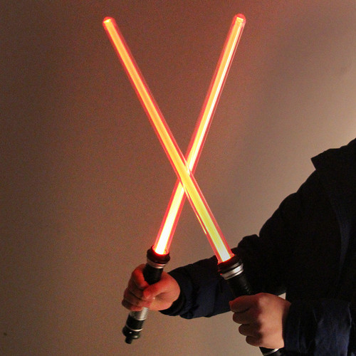 The Toy  Favorite Star Wars Lightsaber Presents The 7 Color Sword light 2 Pieces / Sets Christmas Gift Boy's Gift