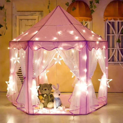 Girls Prince Castle Tents Children Princess Indoor Outdoor Garden Folding Play Tent Lodge Kids Ocean Balls Pool Kit Playhouse