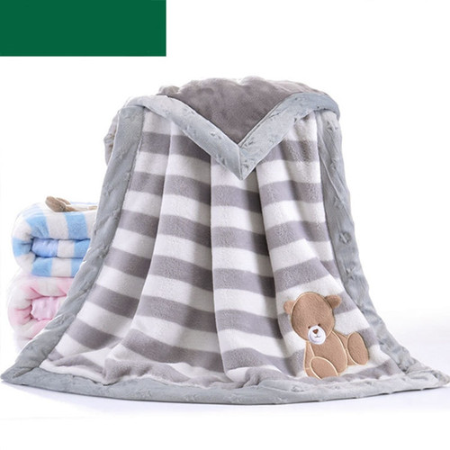 Baby Girl Blanket Newborn Swaddle Wrap Cute Cartoon Pattern Toddler Boys Stroller Bedding Blankets Winter Flannel Children Quilt