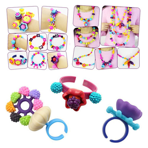 300pcs/500pcs Pop Beads Toys Arts Crafts Bracelet Snap Together Jewelry Fashion Kit Educational Toy Gifts For Children