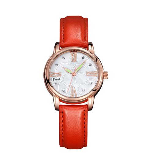 2019 Luxury Women Simple Dial Wristwatches Casual Fashion PREMA Brand Leather Strap Quartz Watches Clock Relogio Feminino