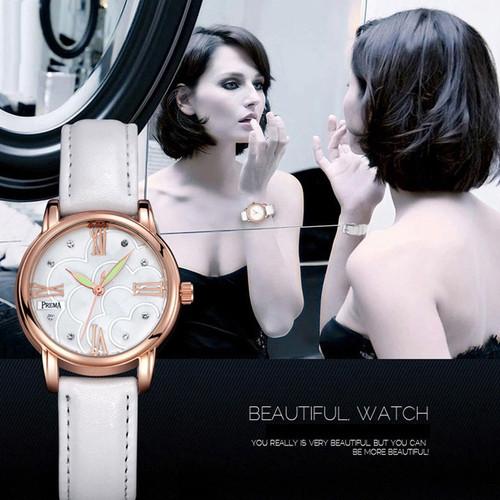 PREMA Brand Leather Watch Luxury Classic Wrist Watch Fashion Casual Simple Quartz Wristwatch Clock Women Watches relogios