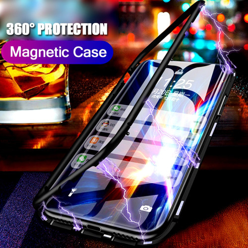 Essien Magnetic Adsorption Metal Case for Honor 10 Magnet Magnetic phone Case for Huawei P20 Lite Pro Mate 20 lite pro Nova 3 3i