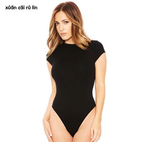 2018 Elegant solid Bodysuit Women Skinny Summer Jumpsuit Tops Sexy Hollow Out Rompers basic Playsuit Leotard Jumper bodys femme