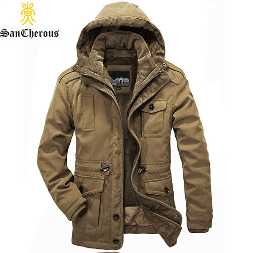 New Arrival Top Quality Men Warm Parkas Heavy Wool Men Winter Jacket Men 2 in 1 Coat Size M-4XL