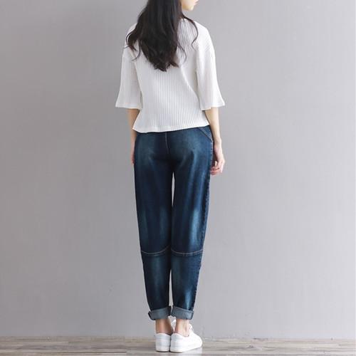 2019 Boyfriend Jeans Harem Pants Women Trousers Casual Plus Size Loose Fit Vintage Denim Pants High Waist Jeans Women Vaqueros