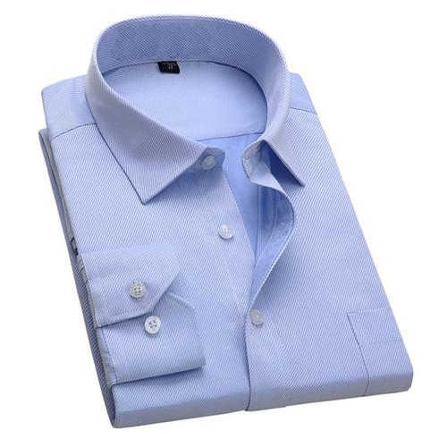 2017 New Design Twill Cotton Pure Color White Business Formal Dress Shirts Men Fashion Long Sleeve Social Shirt Big Size 5XL 6XL