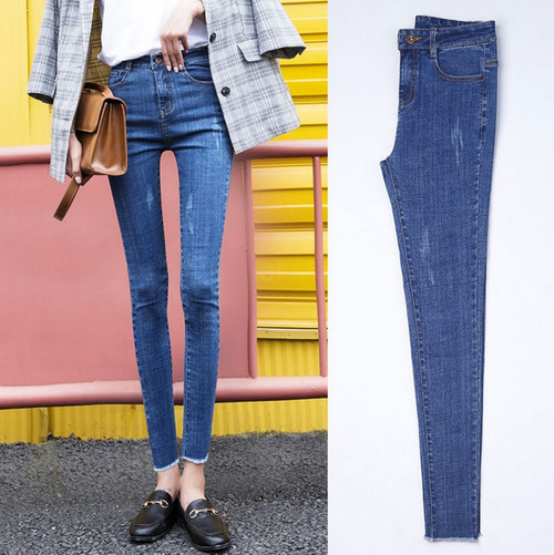 free shipping trousers Jeans for women Pencil pants high waist jeans fashion jeans woman Female pant high Elasticity plus size