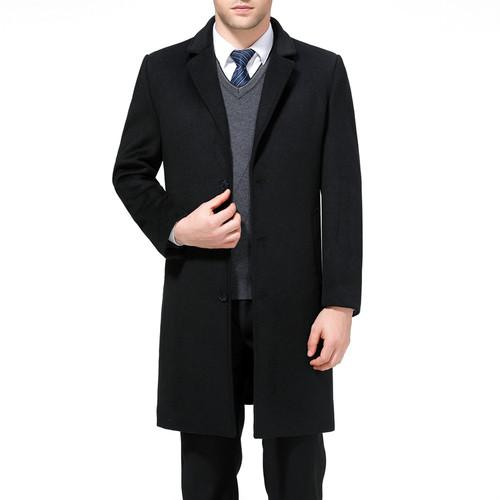 Mu Yuan Yang X-Long Jackets & Coats Single Breasted Casual Mens Wool Blend Jackets Full Winter For Male Wool Overcoat 3XL 4XL