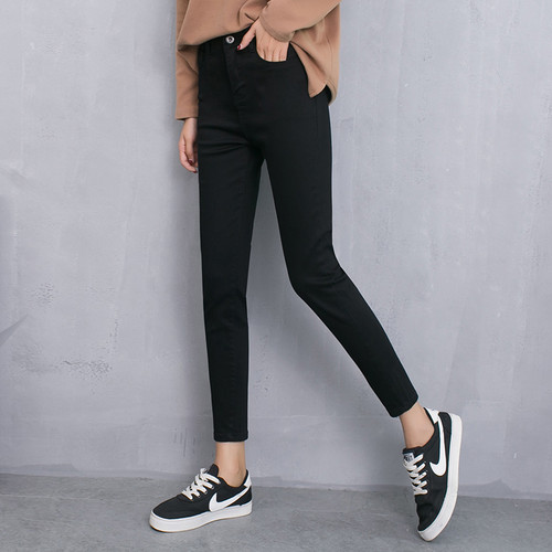 Skinny Jeans Woman Autumn New 2018 High waist Women Fashion Slim Jeans Female washed casual skinny Stretch pencil Denim Pants