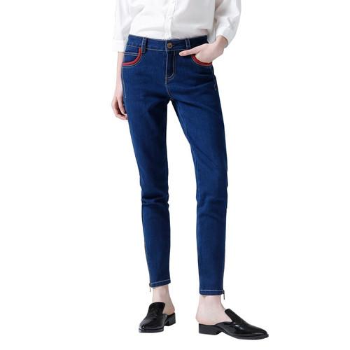 Toyouth 2017 Cotton Denim Jeans Women's Skinny Pants Pencil Jeans Pencil Trousers Elastic Slim Denim Jeans Female