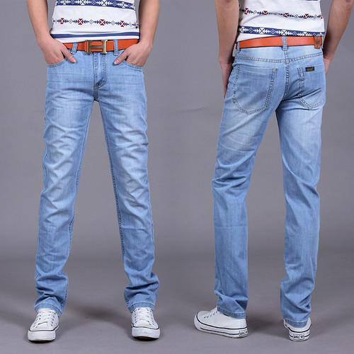 2018 Men's Jeans Light Thin Fashion Brand Jeans Large sales of Spring Summer Jeans Fashion Slim blue Jeans men's trousers