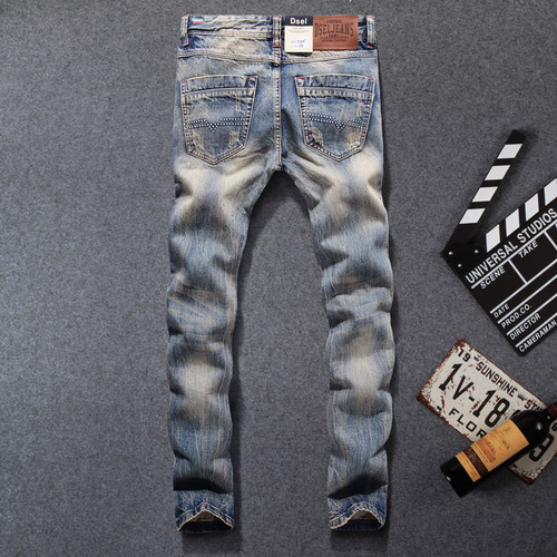 2017 New Fashion Dsel Designer jeans men Famous Brand Ripped jeans Denim Cotton Jeans Men Casual Pants printed jeans ,708-B
