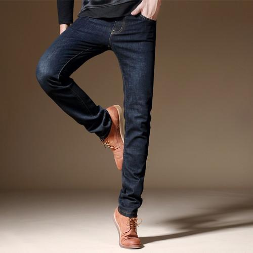 jantour 2017 new luxury Men's brand black jeans men cotton skinny Slim Solid Casual Stretch Denim jean mens long Pants male