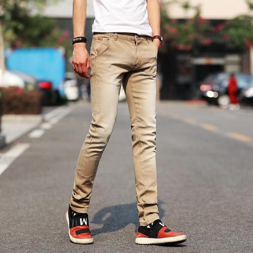 New fashion men's jeans light color stretch jeans casual straight Slim fit Multicolor skinny jeans men cotton denim trousers