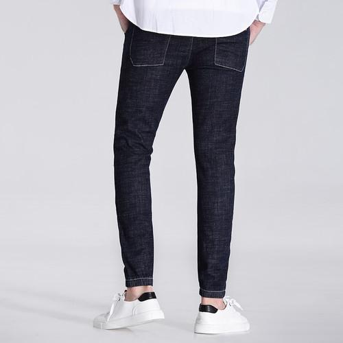 Jantour 2017 high quality Men's elastic blue black jeans men denim Nine pants Slim Regular Straight fit homme Trousers Jean male
