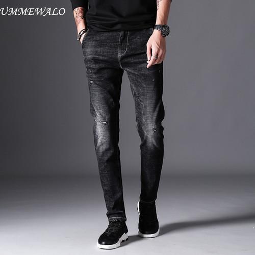 UMMEWALO Black Skinny Jeans Men Winter Autumn Stretch Denim Jeans Man Elastic Casual Slim Jean Pants Male Quality Jeans Homme