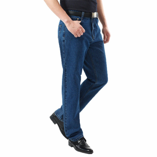 TIGER CASTLE Men Washed Denim Jeans Casual Straight Denim Overalls for Men Brand Male Classic Jeans Pants Men Business Trousers
