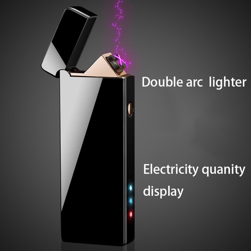 Lighter USB Electronic Plasma Cigarette Lighter For Smoking Electronic Lighter Free Engrave name