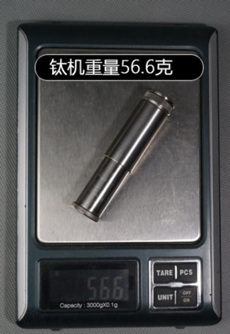 WATCH video DXJ 7.8*1.8 cm 55g Handmade TC4 pure  Titanium Kerosene  Retro Vintage lighter