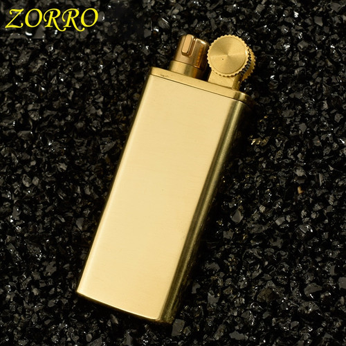 Zorro Gasoline Lighter Vintage 100% Copper Material Oil Petrol Refillable Grinding Wheels Fire Lighter