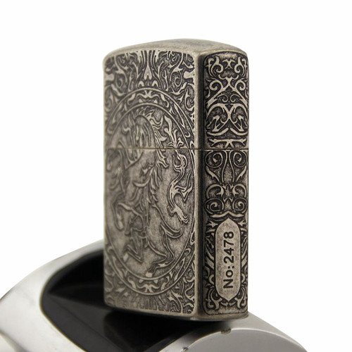 Cigarette Accessories Copper material oil lighter Metal Five surface etching dragon horse pattern kerosene lighters Z8650A