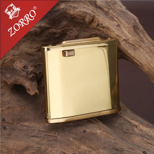 Zorro Gasoline Lighter Brass Material  Oil Petrol Refillable Cigarett Lighter For Smoking Flint Fire